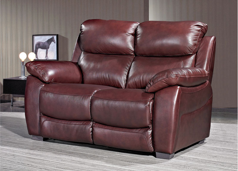 Luca 3 plus 2 Seater Set in Chestnut Leather
