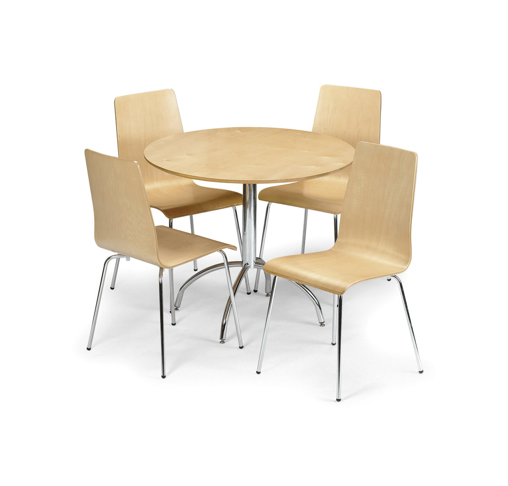 Amanda Maple Dining Set (Table + 4 Chairs)