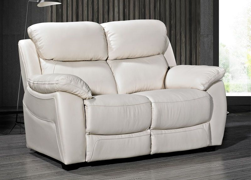 Luca 3 plus 2 Seater Set in Ivory Leather