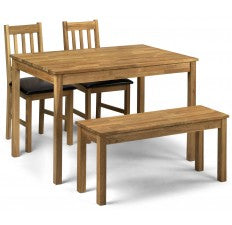 Coxley Set Price (Table + 2 + Bench) Rectangular Table