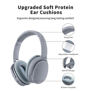 Dyplay High Quality Bluetooth Noise Canceling Headphones Gray