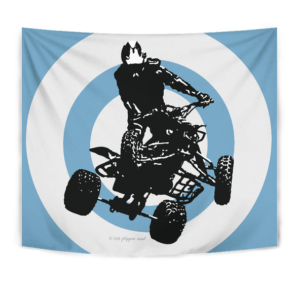 Quad Silhouette Tapestry Blue by Flippin' Mud®