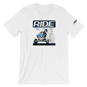 """RIDE"" - Front Print Bella + Canvas 3001 T-Shirt"