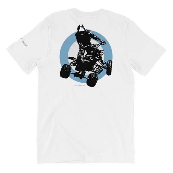 Quad Silhouette - Blue Back Print Short-Sleeve Unisex T-Shirt