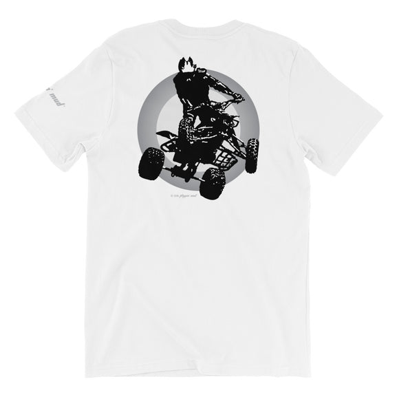 Quad Silhouette - Gray Back Print Short-Sleeve Unisex T-Shirt