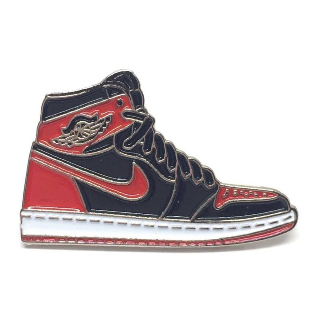61a3e689fce4b Air Jordan 1 Retro High OG Banned Bred Pin
