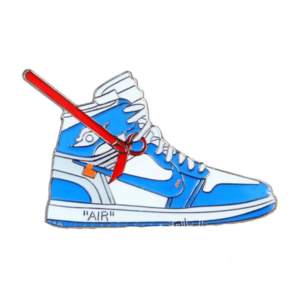 cheap for discount 62efb 1aa6d Off-White x Air Jordan 1 Blue Pin