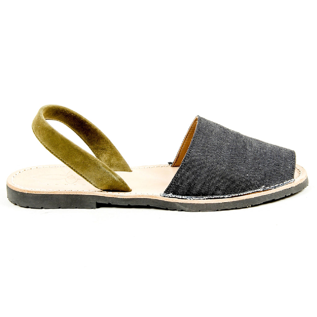 Del Rio London Mens Flat Sandal VINTAGE H DENIM 14SS10304