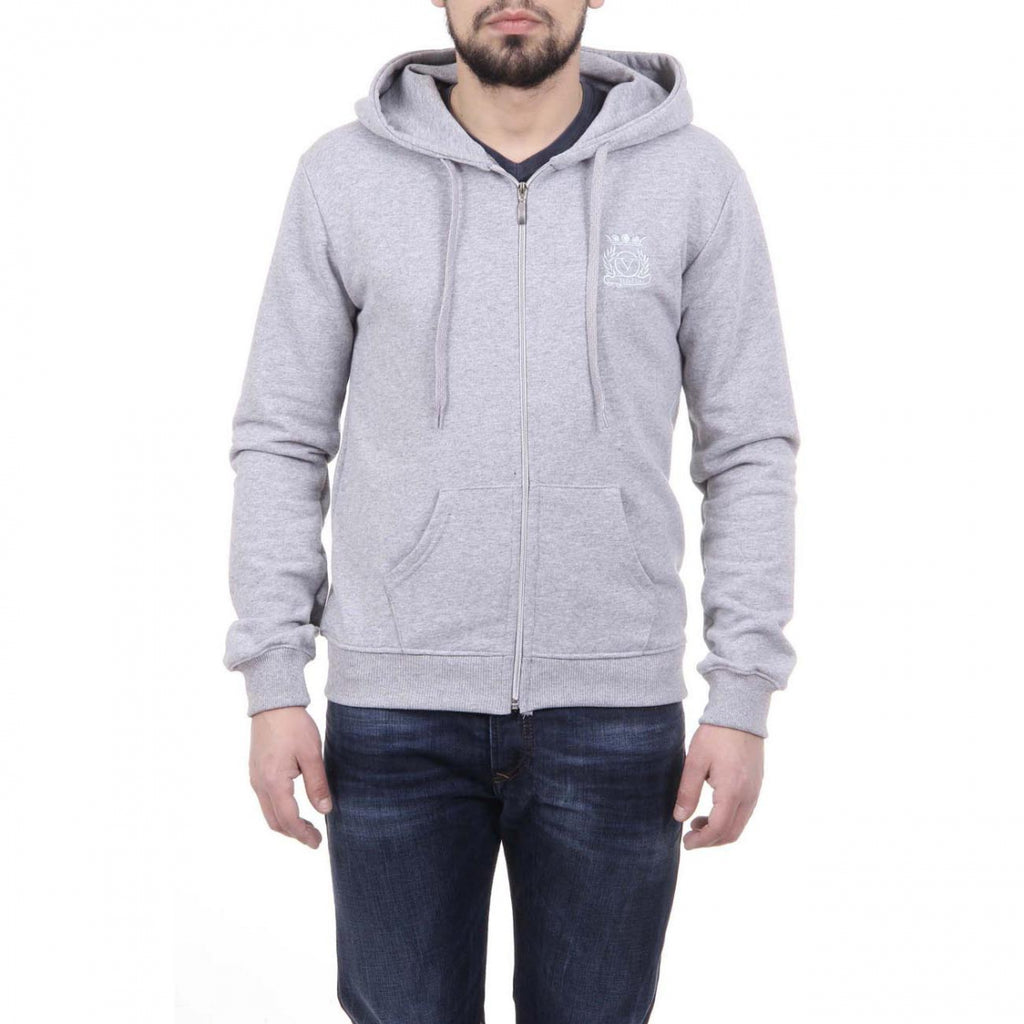 V 1969 Italia Herre Hoodie Med Zip ART. 4468 LIGHT GRAY