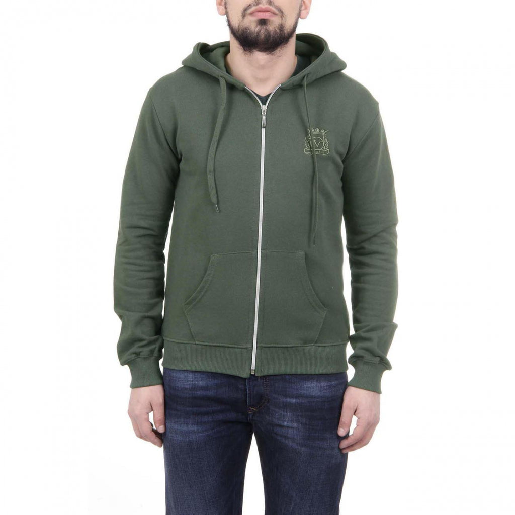 V 1969 Italia Herre Hoodie Med Zip ART. 4468 MILITARY GREEN