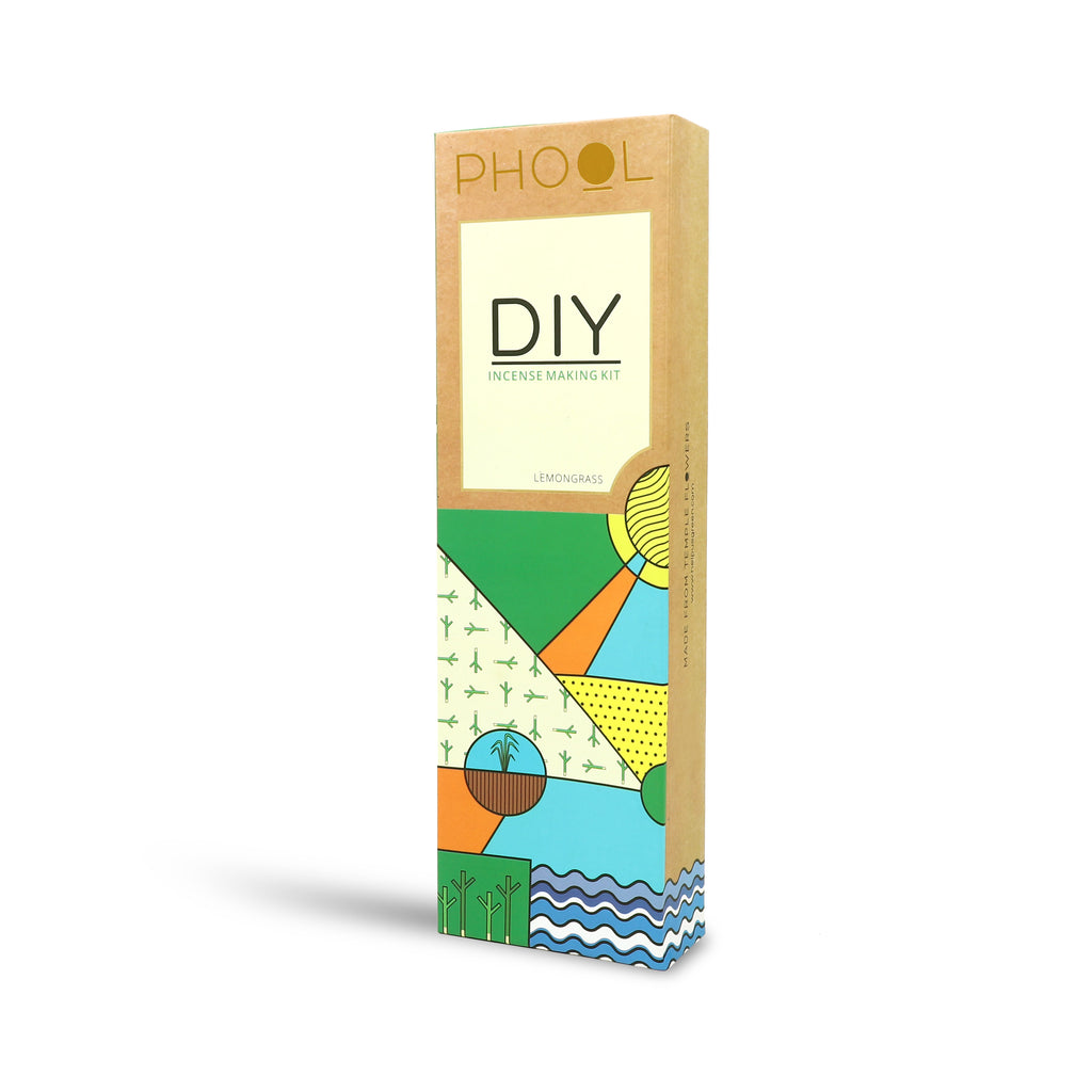 Phool Natural DIY Incense Making kit - Lemongrass