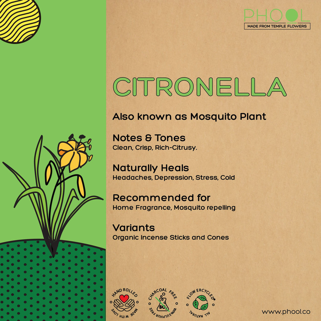 Phool Natural Incense Sticks - Citronella