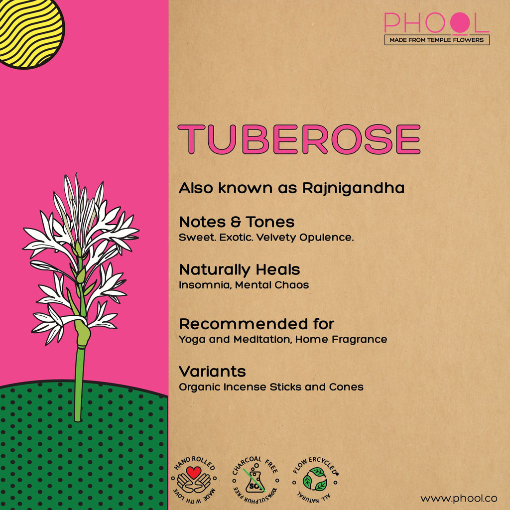Phool Natural Incense Cones - Tuberose