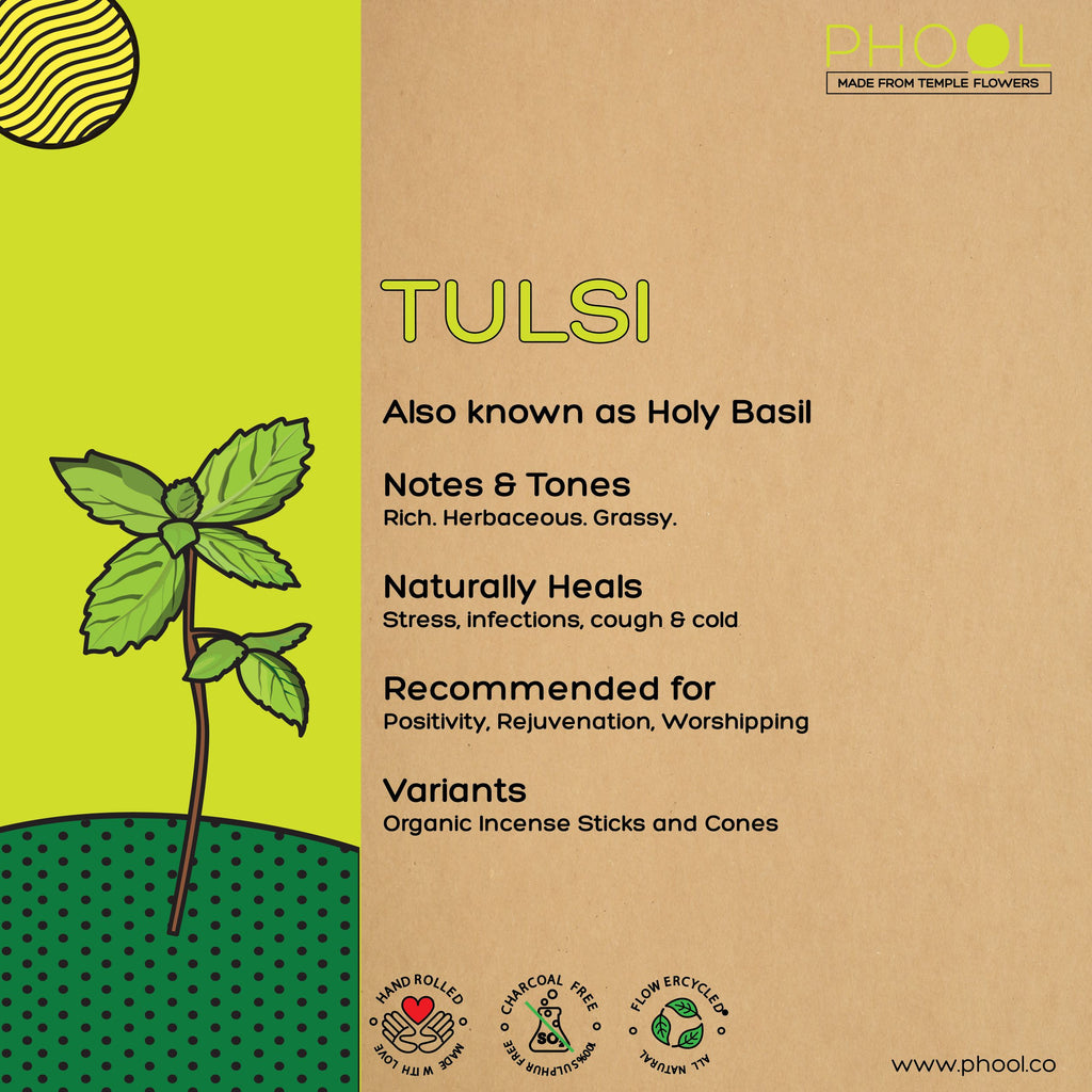 Phool Natural Incense Cones - Tulsi