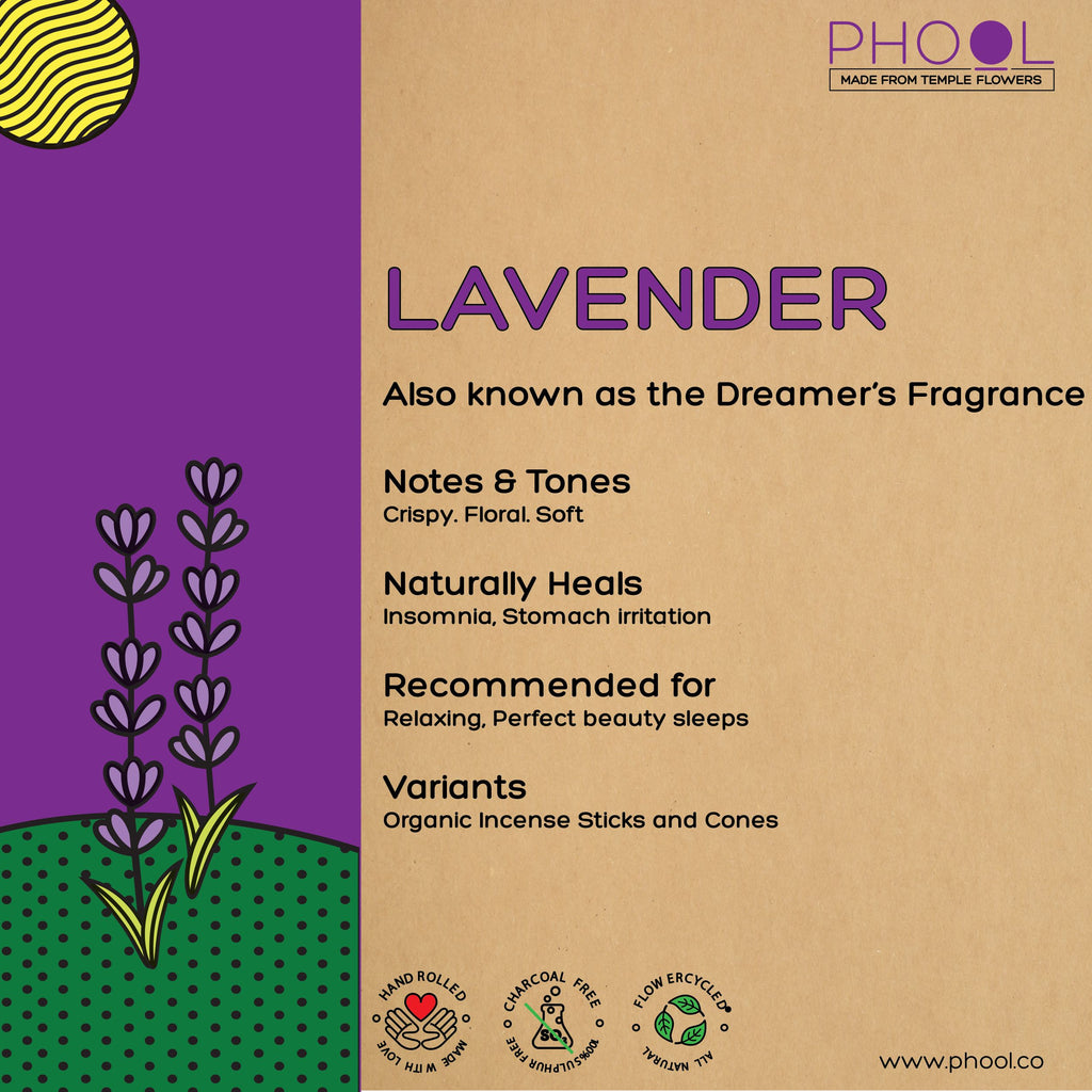 Phool Natural Incense Cones - Lavender