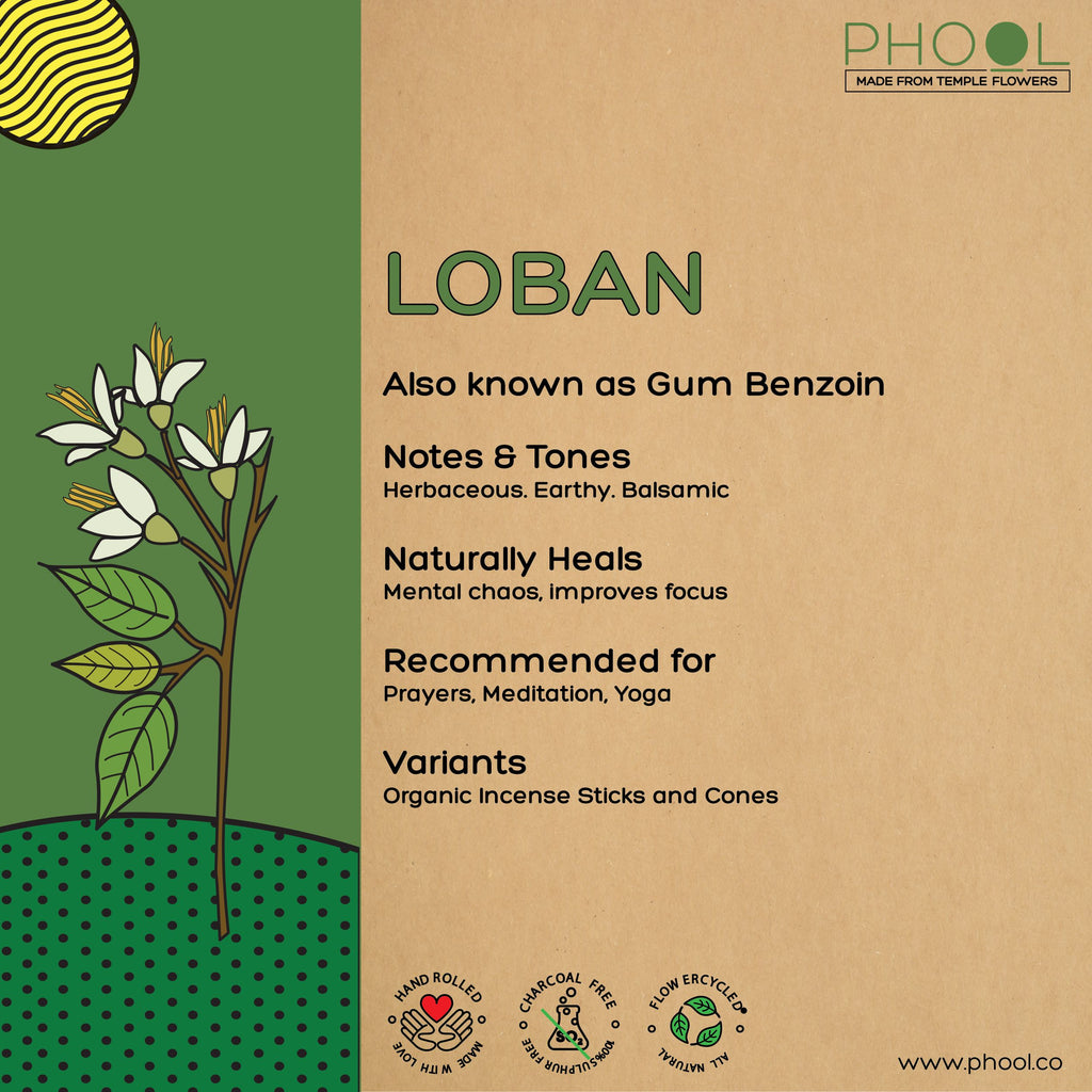 Phool Natural Incense Cones - Loban