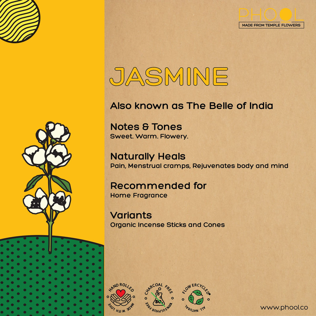Phool Natural Incense Cones - Jasmine