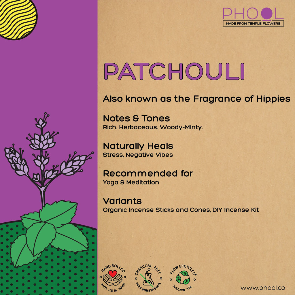 Phool Natural Incense Cones - Patchouli