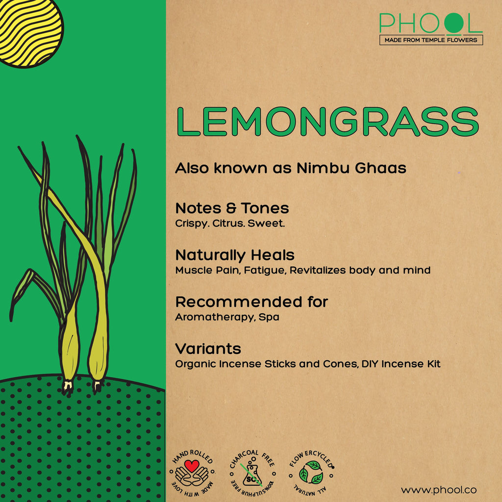 Phool Natural Incense Cones - Lemongrass