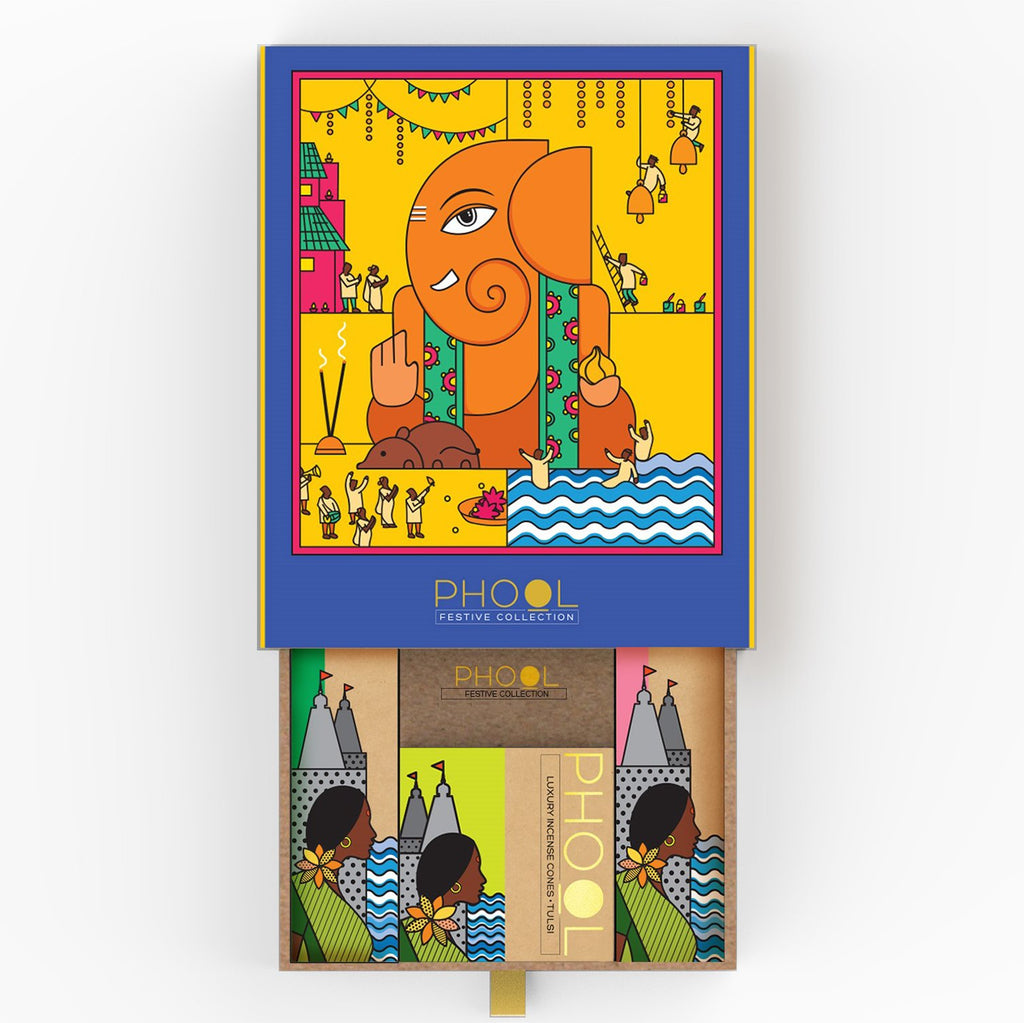 Phool Ganesha Gift box - Natural Incense Collection (4 Fragrances)