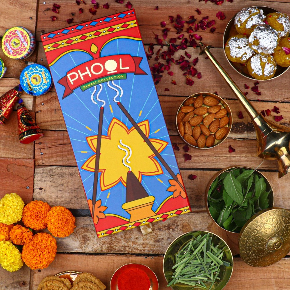 Phool Diwali Cracker Giftbox - Natural Incense Sticks Collection (2 Fragrances)