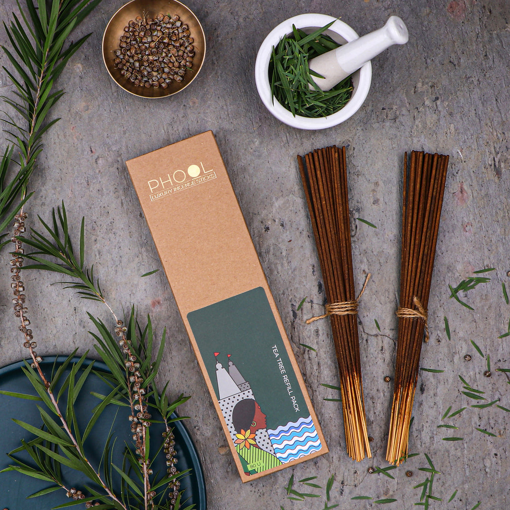 Phool Natural Incense Sticks Refill pack - Tea Tree