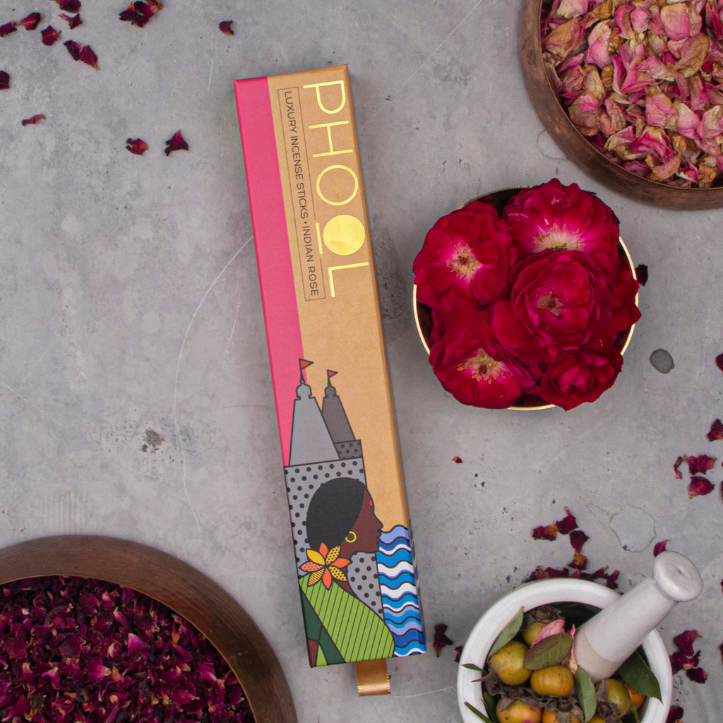 Phool Natural Incense Sticks - Indian Rose