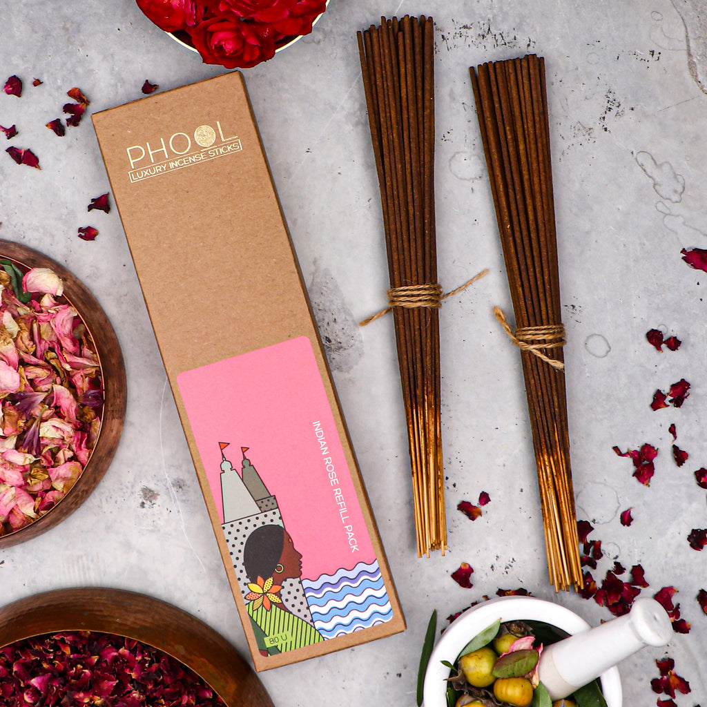 Phool Natural Incense Sticks Refill pack - Indian Rose