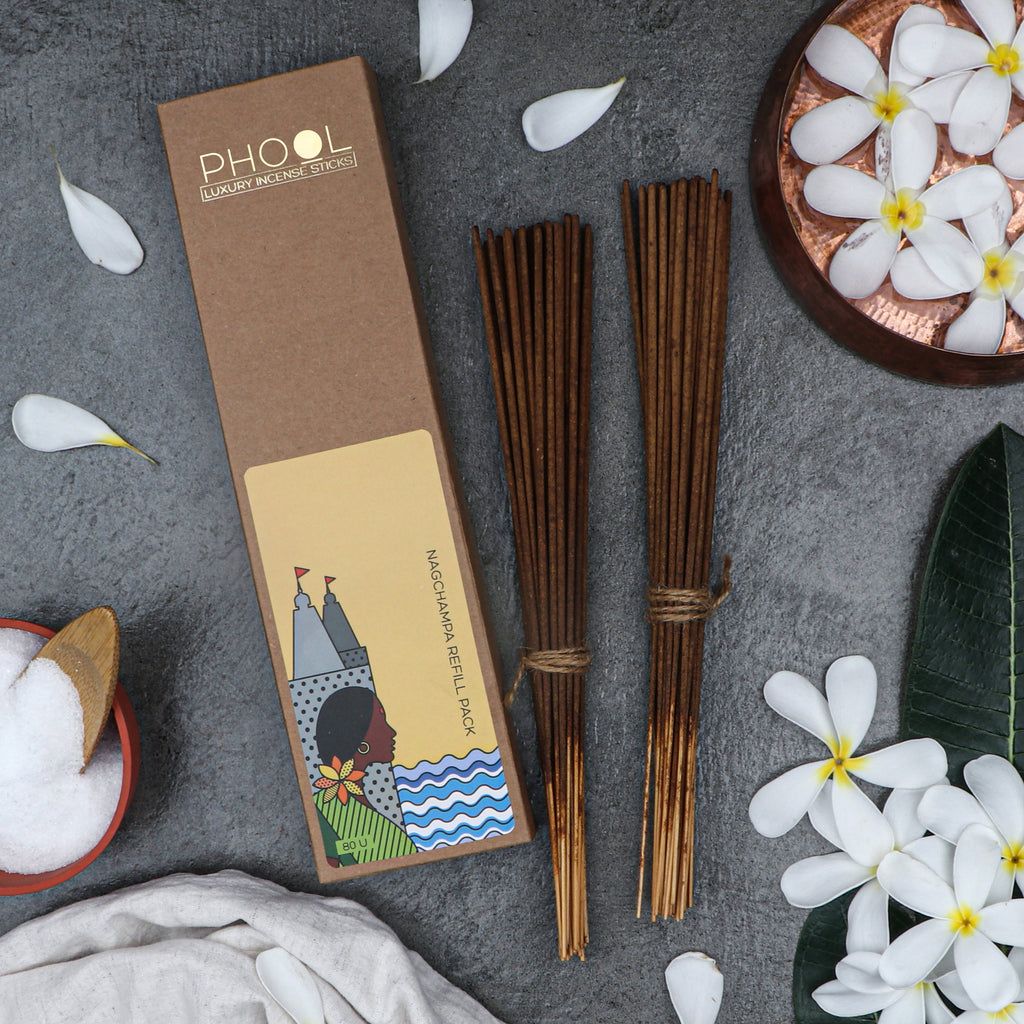 Phool Natural Incense Sticks Refill pack - Nagchampa