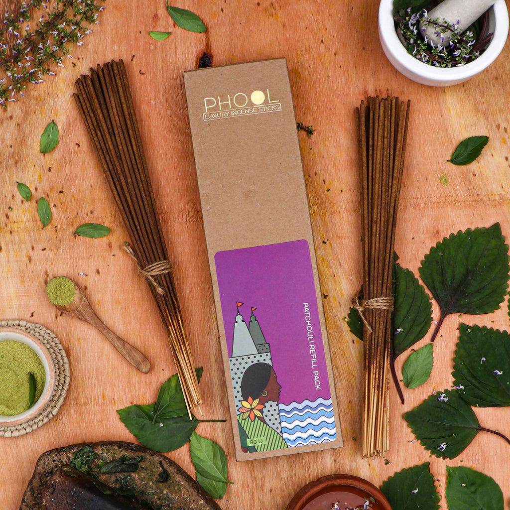 Phool Natural Incense Sticks Refill pack - Patchouli