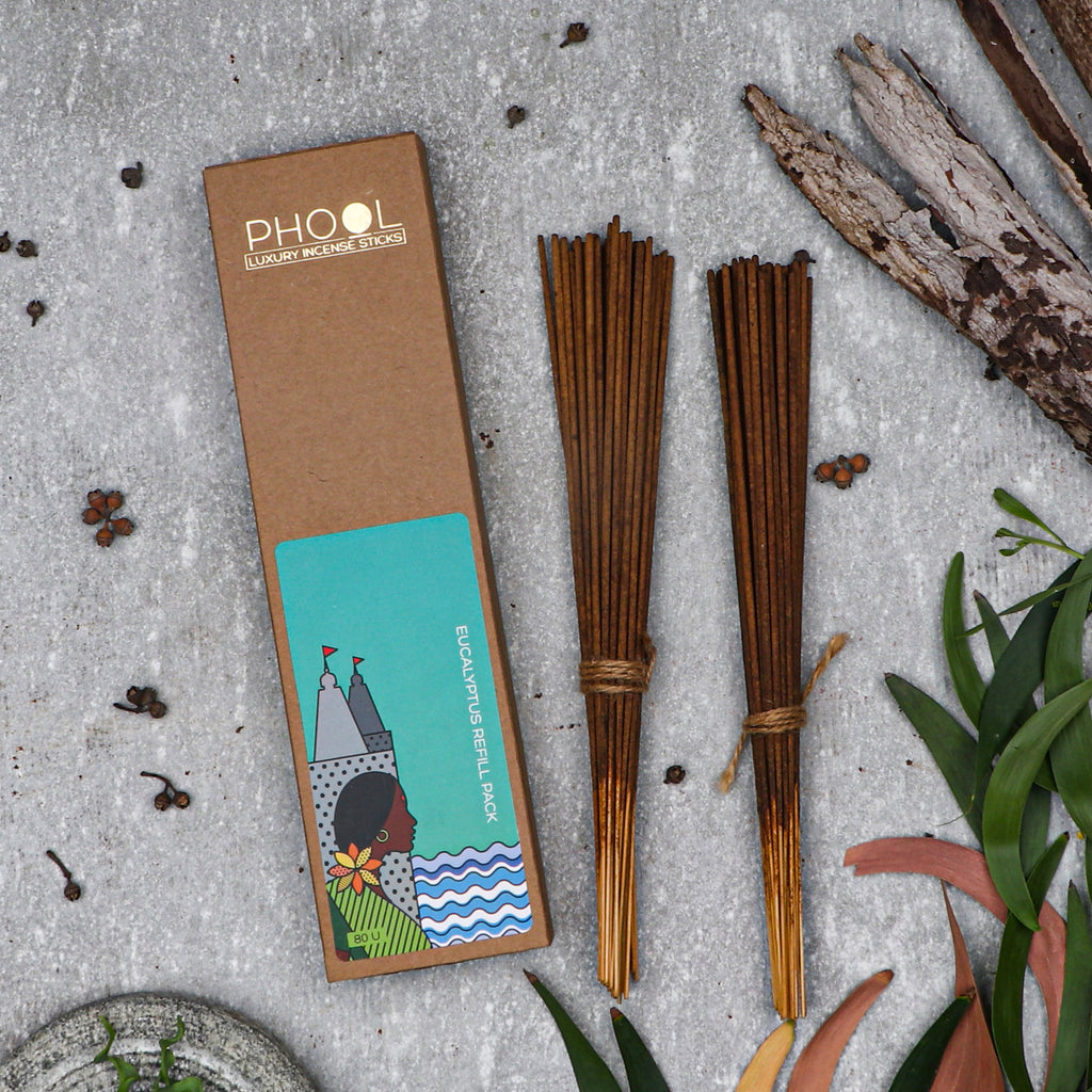 Phool Natural Incense Sticks Refill pack - Eucalyptus