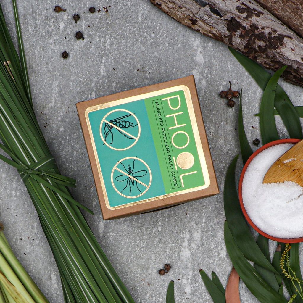Phool Mosquito Repellent Pack - Natural Incense Cones Citronella & Eucalyptus