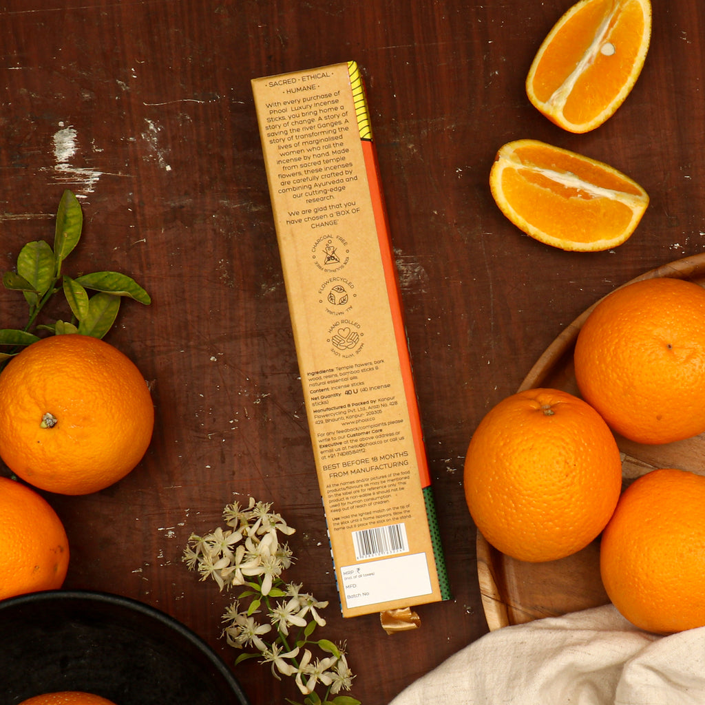 Phool Natural Incense Sticks - Orange