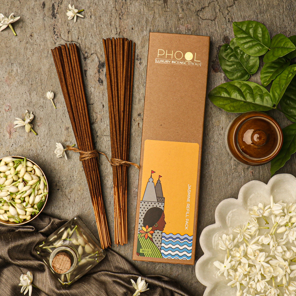Phool Natural Incense Sticks Refill pack - Jasmine