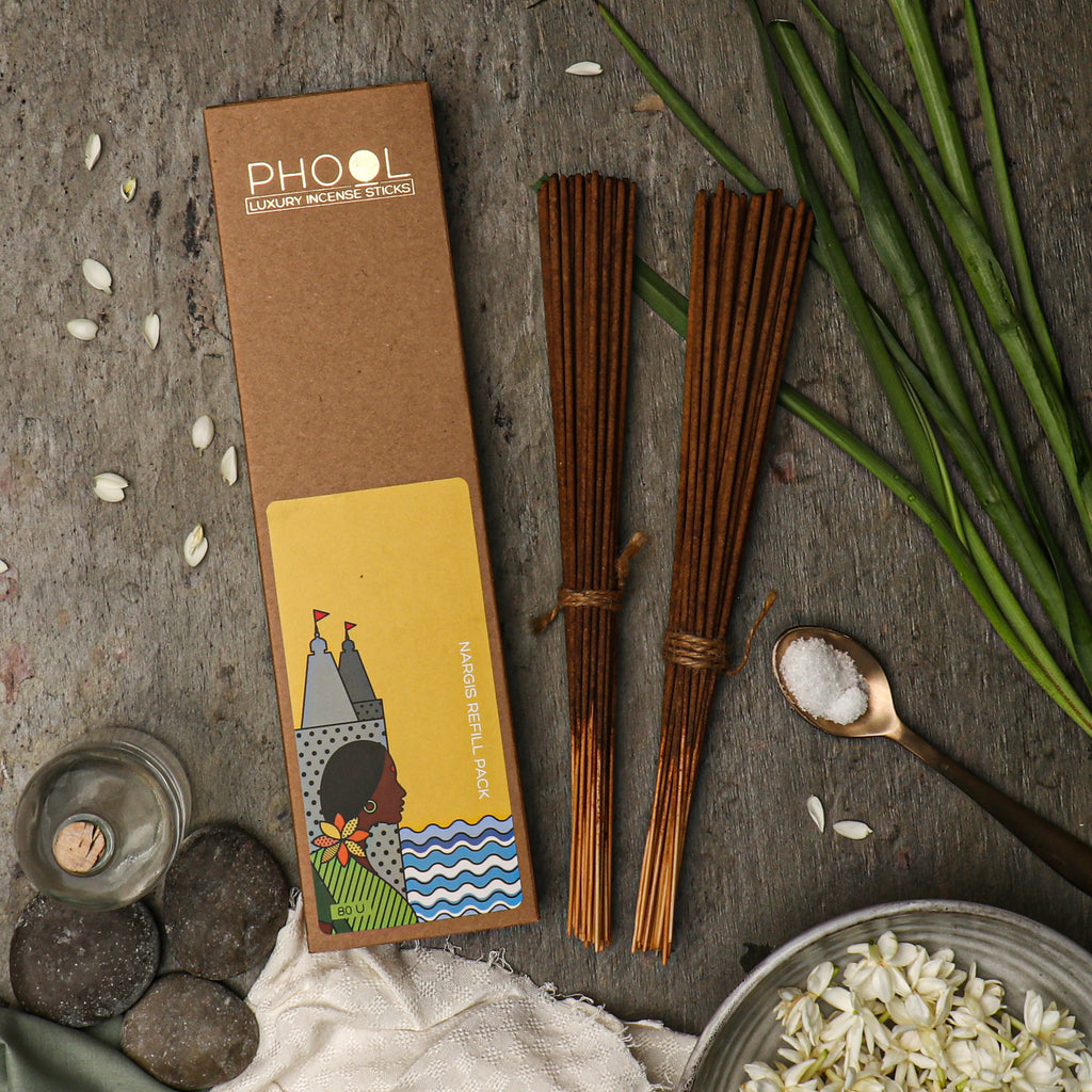 Phool Natural Incense Sticks Refill pack - Nargis