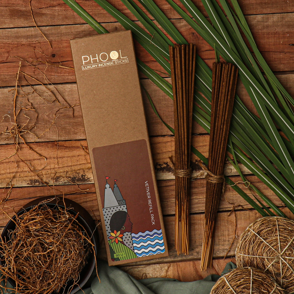 Phool Natural Incense Sticks Refill pack - Vetiver