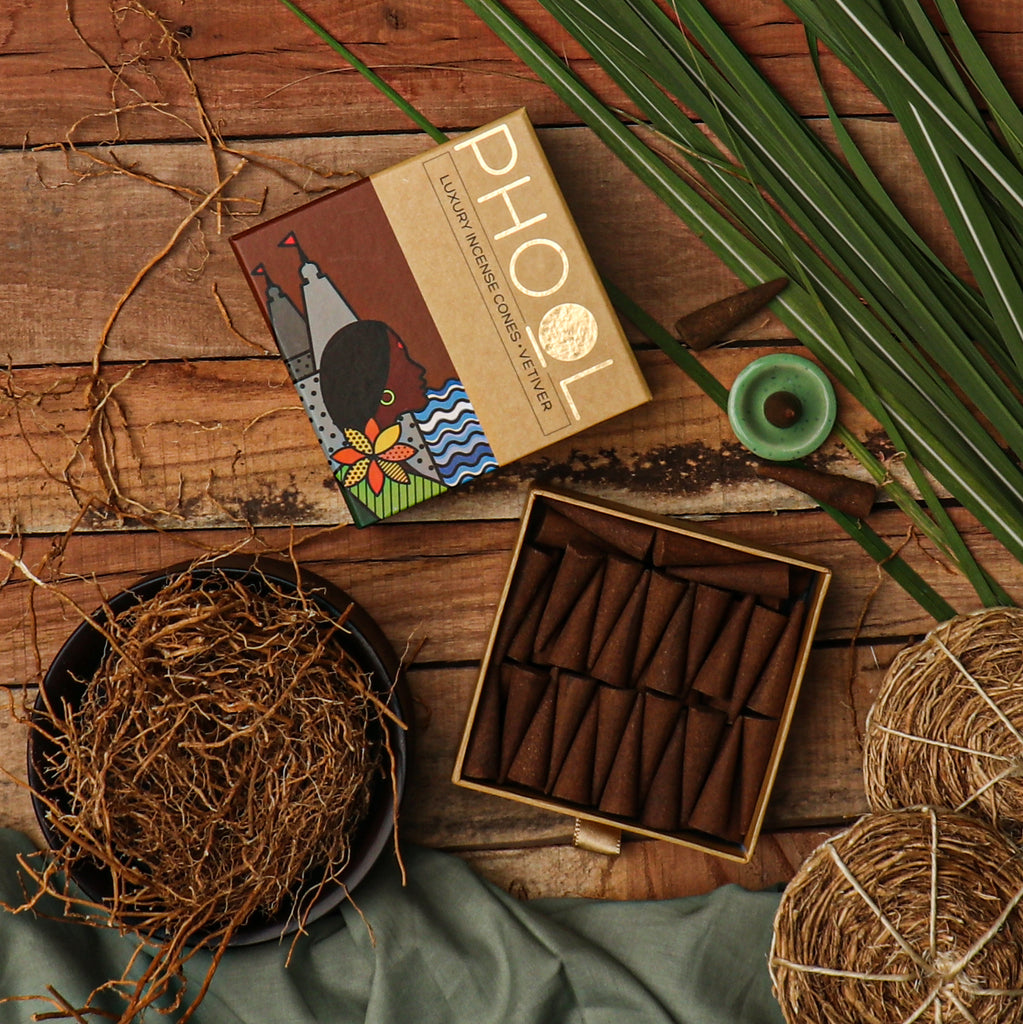 Phool Natural Incense Cones - Vetiver