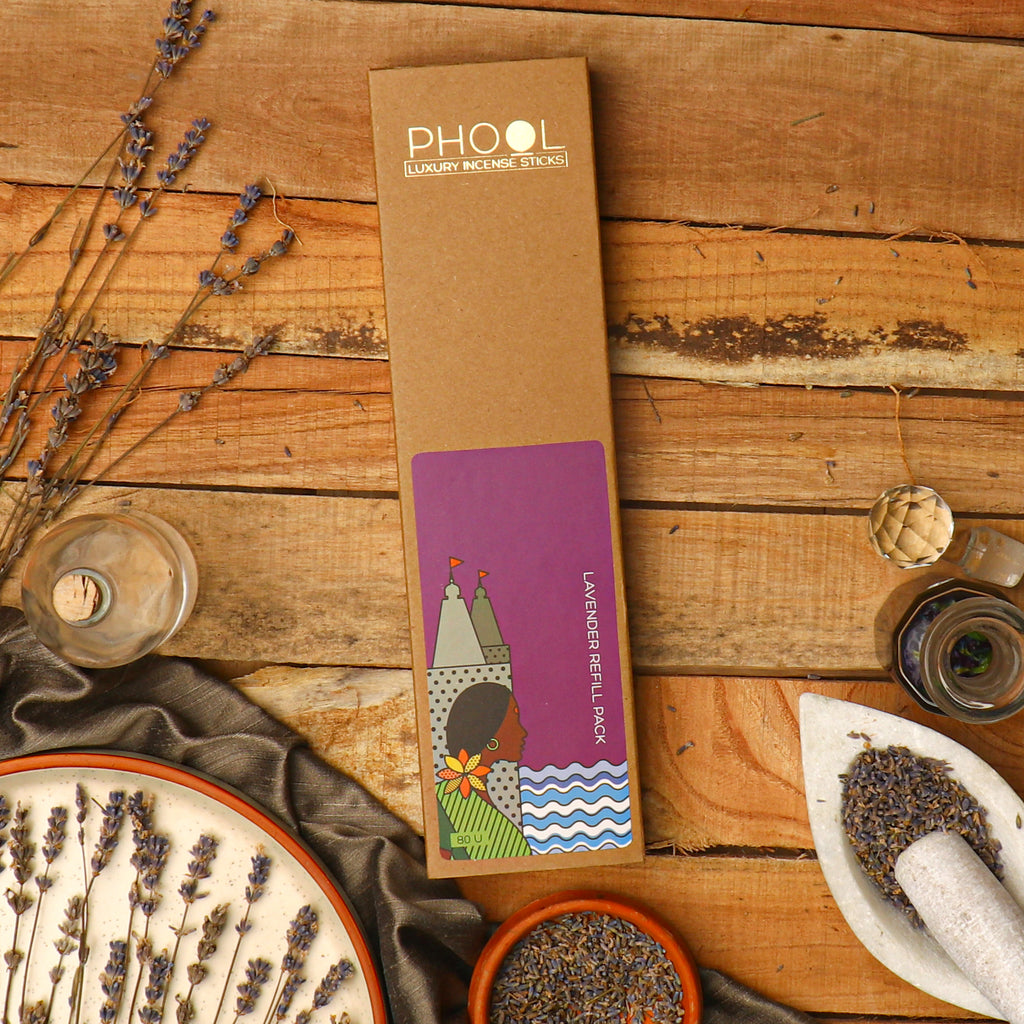 Phool Natural Incense Sticks Refill pack - Lavender