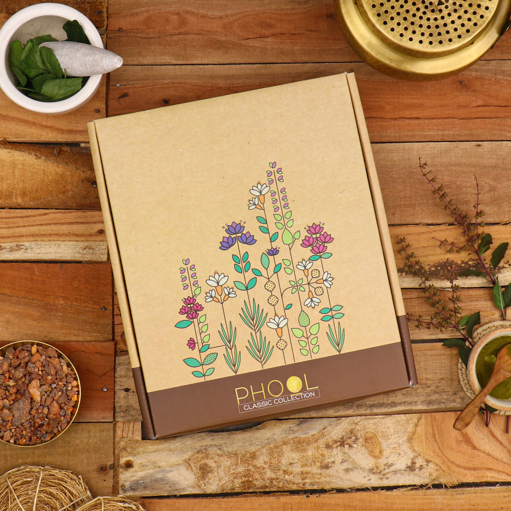 Phool Classic Gift box - Natural Incense Collection (4 Fragrances)