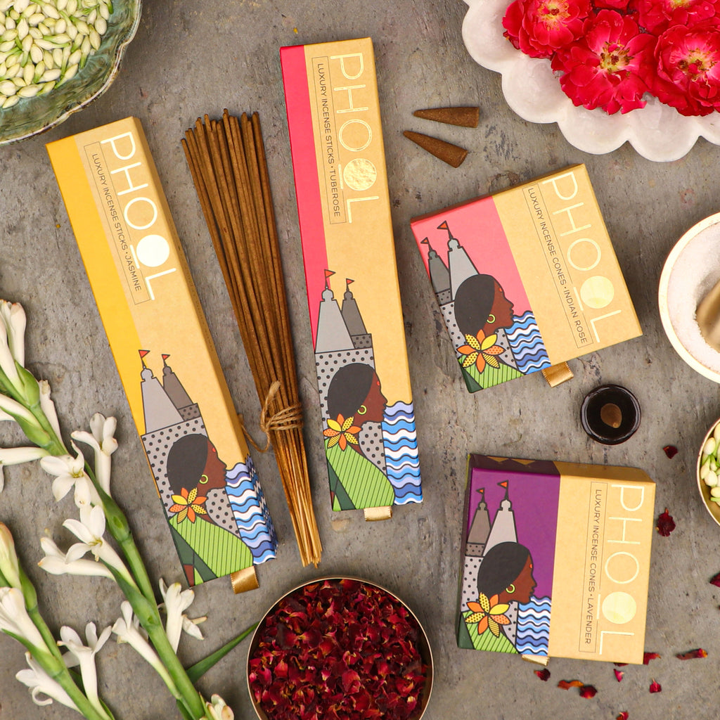 Phool Floral Gift box - Natural Incense Collection (4 Fragrances)