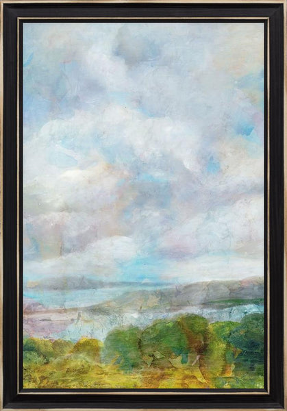 Spring Meadow  - Landscape by Theodosiou, Matina in a Distressed Classic Black frame