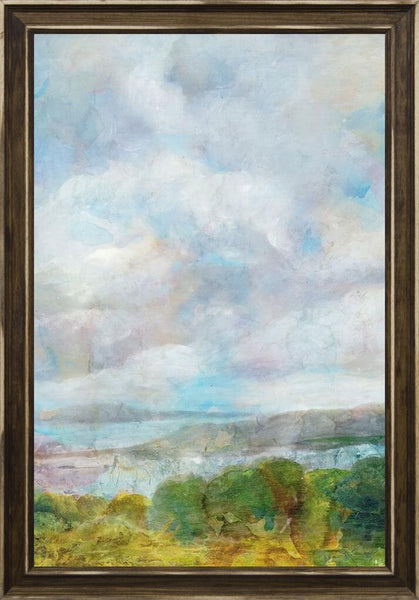 Spring Meadow  - Landscape by Theodosiou, Matina in a Distressed Classic Saddle frame