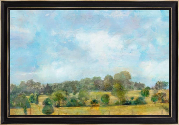 Spring Vista  - Landscape by Theodosiou, Matina in a Distressed Classic Black frame