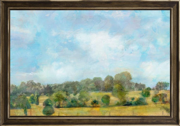 Spring Vista  - Landscape by Theodosiou, Matina in a Distressed Classic Saddle frame