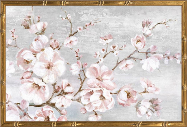 Spring Cherry Blossoms I  - Abstract by Watts, Eva in a Gold Bamboo frame