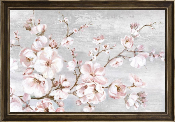 Spring Cherry Blossoms I  - Abstract by Watts, Eva in a Distressed Classic Saddle frame