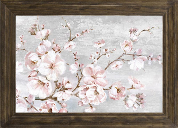 Spring Cherry Blossoms I  - Abstract by Watts, Eva in a Ponderosa Saddle frame