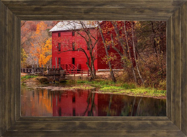 Alley Springs Mill - Country French Landscape Photography by Hammond, David in a Ponderosa Saddle frame