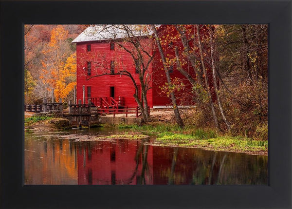 Alley Springs Mill - Country French Landscape Photography by Hammond, David in a Studio Black frame