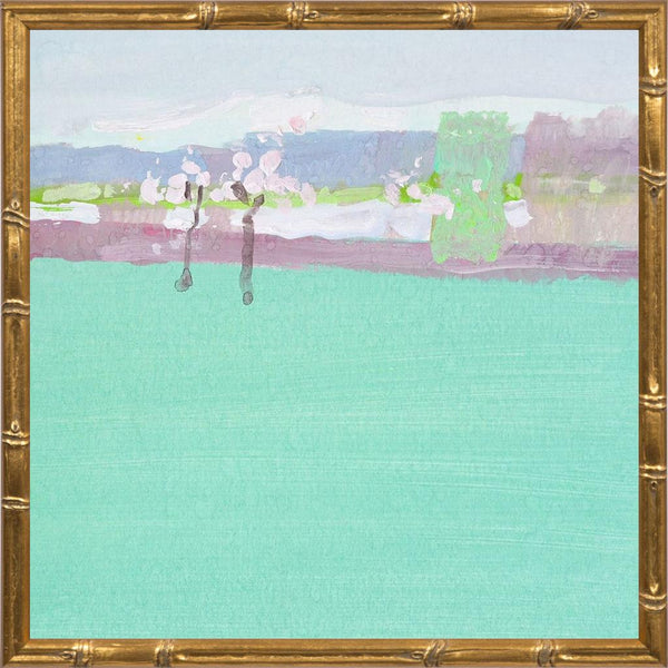 The Early Spring - Abstract Landscape Contemporary by Nekraha, Igor in a Gold Bamboo frame